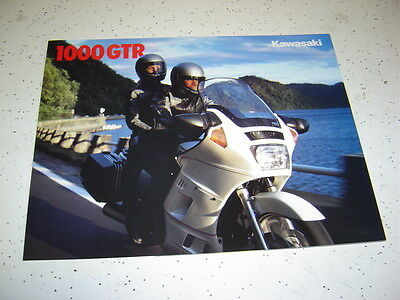 1  1989 Kawasaki Concours 1000GTR Brochure  NOS. 4 Pages.