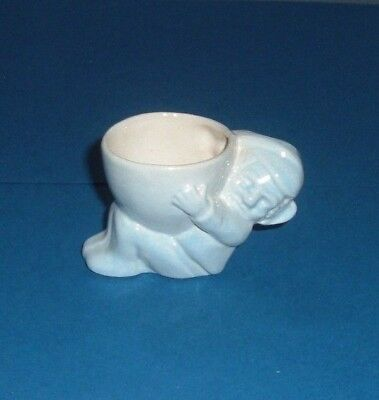 """Hornsea, Gnome  Eggcup  in  Blue. 1952,  """"VERY RARE""""   (396)"""