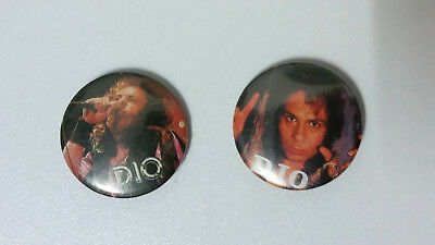 Dio Ronnie James heavy metal band music buttons vintage SMALL BUTTON set