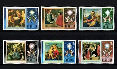 Anguilla - 1973 - Christmas - Shepherds - Madonna + Paintings - Mint - Set Of 6!