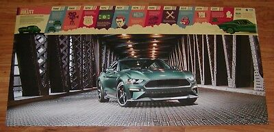 2019 MUSTANG BULLITT POSTER - FREE SHIPPING !!! - Issued by FORD