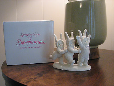 LET'S DO THE BUNNY HOP SNOWBUNNIES FIGURINE by Dept 56