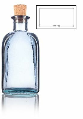 8 Oz Slate Gray Spanish Thick Recycled Gl Bottle With Cork Top Label