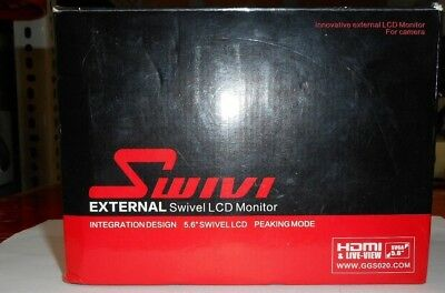 Swivi External Swivedl Lcd Monitor Good Condition, Light Wear And Tear, In Box