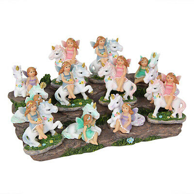 1pce 6cm Fairy with Unicorn Figurine, Fairy Garden Collectable