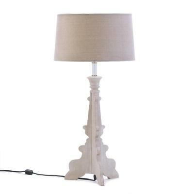TABLE LAMP: Modern Baroque Style FRENCH COUNTRY Laser Cut Wood Light NEW