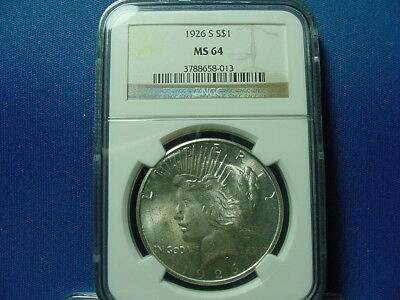 1926-S Peace Dollar NGC MS64