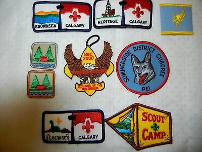 BOY SCOUT BSA LOT of  PATCHES X NINE (9) SCOUTS CANADA USA JAMBOREE CAMPING