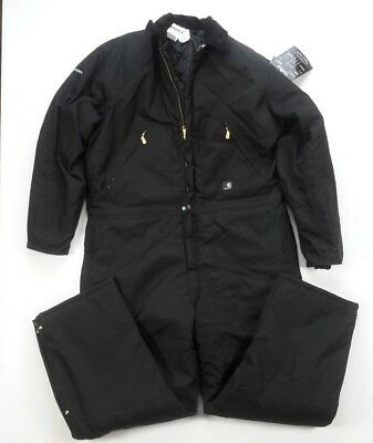 Carhartt Yukon Extremes Arctic Quilt Lined Insulated X06 Black Coveralls 46 TALL