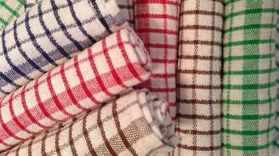 New 100% Cotton Jumbo Terry Tea Towels Large Kitchen Dish Cloths Cleaning Towels