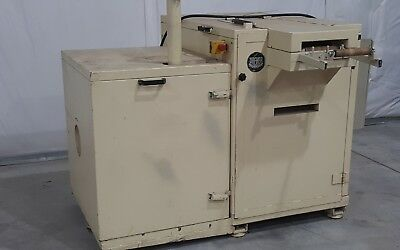 Dreher edge trim granulator with blower and full sound enclosures