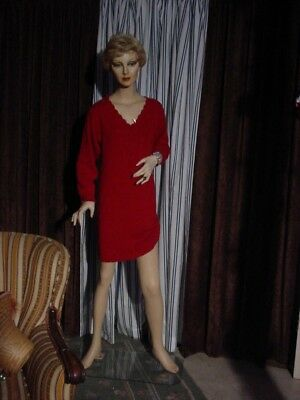 "Vintage 1967 Female Woman Lady Store Display Mannequin 5'9"" Tall w/Stand"