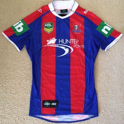 #13 Player Issue Newcastle Knights NRL Rugby League Jersey - GPS Pocket - Mens L