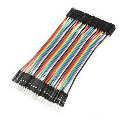 New 40pcs 10cm Dupont Male to Female Jumper Wire Ribbon Cable Pi Pic Breadboard""
