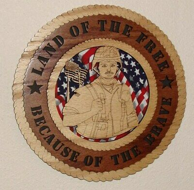 """American Flag United We Stand Laser Cut 3D Wood Wall Tribute Plaque 11¼/"""""""