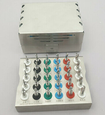 Dental Implant Twist Drills with Integral Stoppers Kit / 30 PCs Stopper Drills F