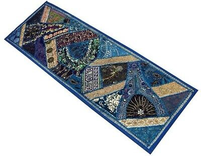 """60"""" Classic Art Décor Vintage Sari Beads Sequin Textile Wall Hanging Tapestry"""