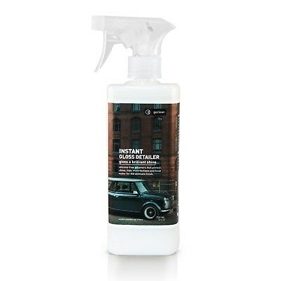 Goclean Instant Gloss Detailer Plant Based Waterless Carwash Silicone Free Spray