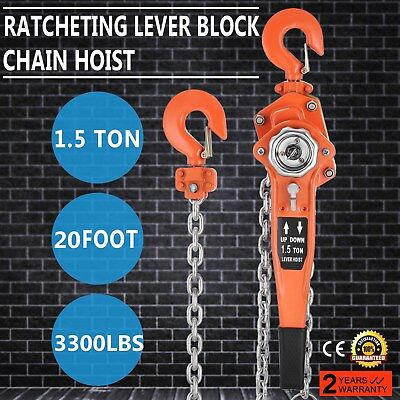 Chain Lever Hoist 1500Kg x 6Metre Lift Hoist Lever High Quality tool Use