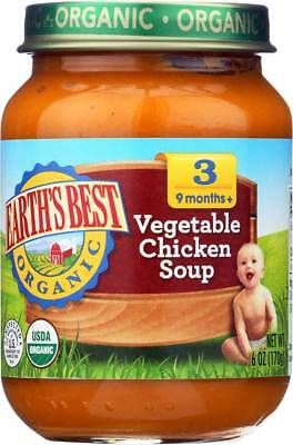 Earth'S Best Organic Vegetable Chicken Soup Baby Food Stage 3 6 Oz. Bulk Pk Lot