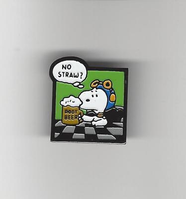 Peanuts SNOOPY / Root Beer no Straw ? Hat / Lapel Pin