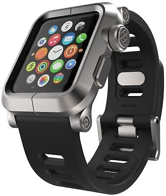 LUNATIK EPIK Apple Watch Aluminum Case w/ Strap for 42mm Series 1 Silver / Black