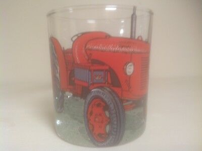 David Brown Cropmaster Tractor   On Large Heavey Base Whisky Tumbler Glass