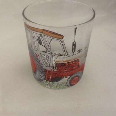 David Brown Silver Jubilee Tractor  On Large Heavey Base Whisky Tumbler Glass
