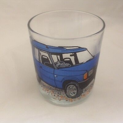 Landrover Blue Discovery  On Large Heavey Base Whisky Tumbler Glass
