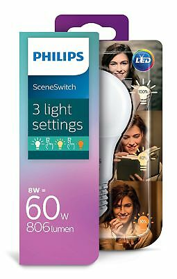 LED Leuchtmittel E27 Philips 8W Memory Funktion Dimmbar über Lichtschalter