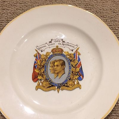"1949 Proposed Royal Visit to Australia Plate!! Collector's item! Size 18cm (7"")"