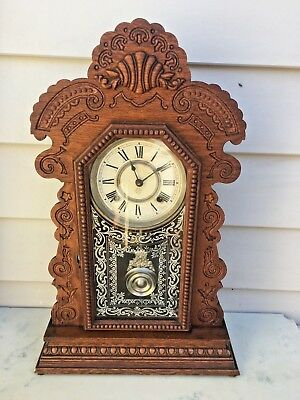 Ansonia Ginger Bread Kitchen Mantle Clock