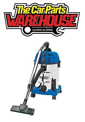 Draper 30L 1600W WET & DRY Vacuum Cleaner Integrated Power Socket 20529 ( VAX )
