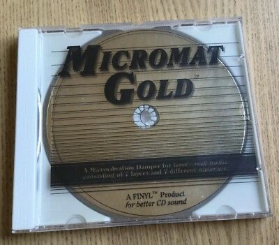 FINYL Audiophile MICROMAT GOLD for Better CD Sound OLD STOCK