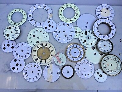 Lot of 26 Enamelled Early Clock Dials