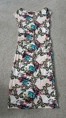 Next maternity dress size 14, stretchy, butterflies, v comfortable
