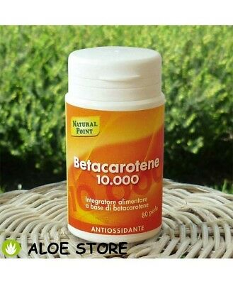 BETACAROTENE 10.000 da 80 perle da 7mg NATURAL POINT - INTEGRATORE ALIMENTARE