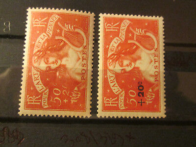 Timbre France  Yt  308/329  Neuf X