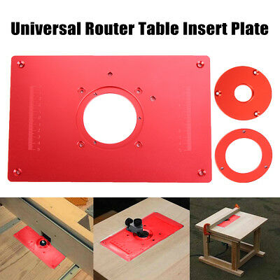 Kreg router table insert plate w level loc rings predrilled for aluminum router table insert plate for woodworking benches 300 x 200 x 10mm greentooth Image collections