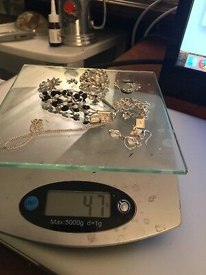Sterling Silver Jewelry Lot Scrap & Wear Approx 47 Grams