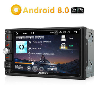 "Autoradio 7"" HD GPS Navi Android 8.0 Octa-core DAB 4G Wifi Mirror Link RAM:4GB"