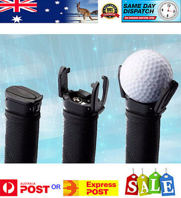 Golf Ball Pick Up Back Saver Tool / Claw Put On Putter Grip Retriever Grabber