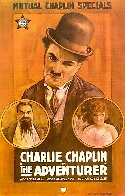 1917 Charlie Chaplin Film 'The Adventurer' 16 mm film recorded in 1967