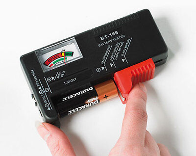 Battery Tester Check Batteries Charge Power Takes All Standard Battery Sizes