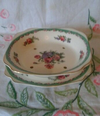 "A.j.wilkinson Clarice Cliff "" Nancy "" Lettuce Dish And Stand"