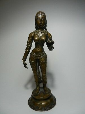 Large 19th C Bronze Indian Hindu Goddess Parvati Sculpture Staute