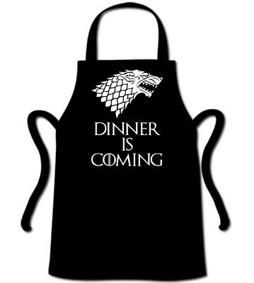Dinner is Coming Game of Thrones Inspired Apron Novelty Chef BBQ Jon Snow GOT