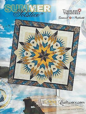 Japanese Fan Foundation Paper Piecing Quilting Pattern By Judy