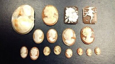 Job Lot of Cameo Pieces from Jewellery - Spares & Repairs