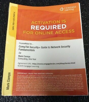 CompTIA Security+ Guide To Network Fundamentals Cengage Online Access Code